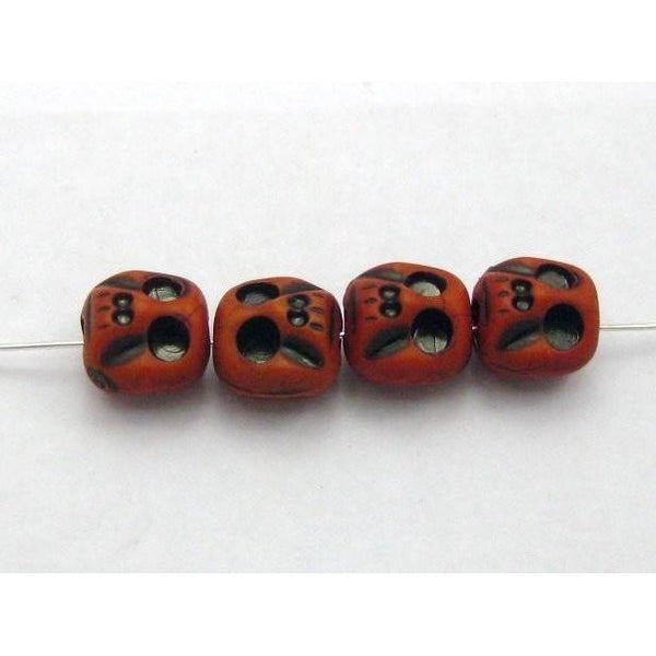 Red Skull Beads-ToShay.org