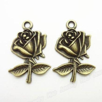 Bronze Rose Charms-ToShay.org