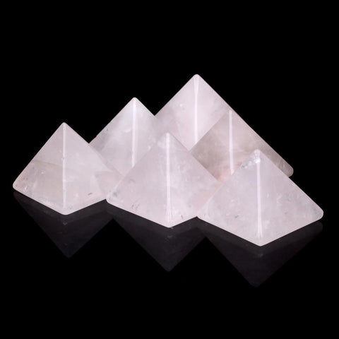 Rose Quartz Crystal Pyramid-ToShay.org