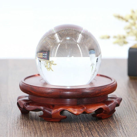 Rosewood Crystal Ball Stand-ToShay.org