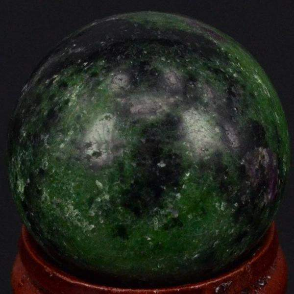 Green Ruby Zoisite Ball-ToShay.org