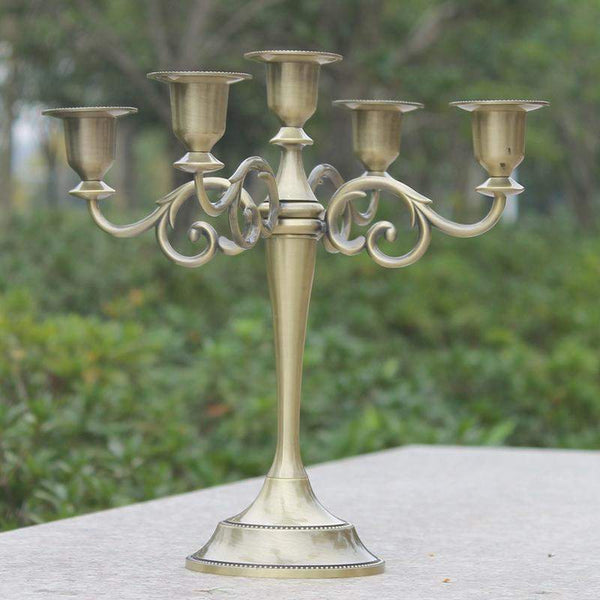 Silver 3 and 5 Arms Candelabras-ToShay.org
