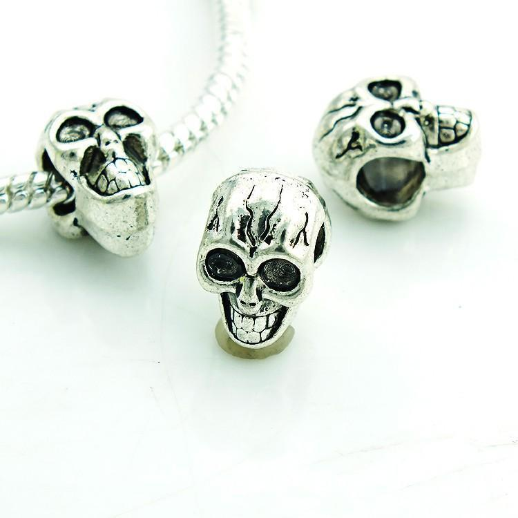 Silver Skull Beads-ToShay.org
