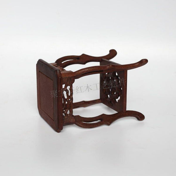 Square Wood Carved Stand-ToShay.org