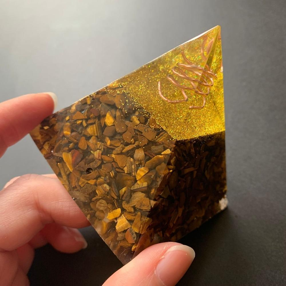 Tiger Eye Stones Pyramid-ToShay.org