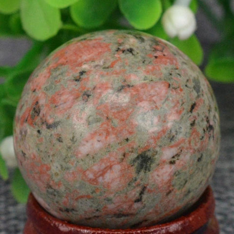 Green Unakite Ball-ToShay.org