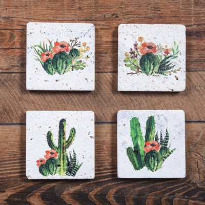 Cactus Bloom Coasters