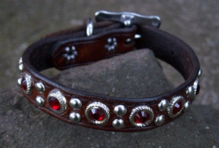 Katie's Ruby Red Dog Collar