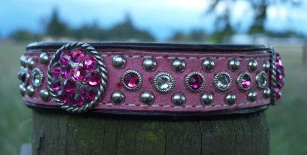 Katie's Pretty in Pink Dog Collar