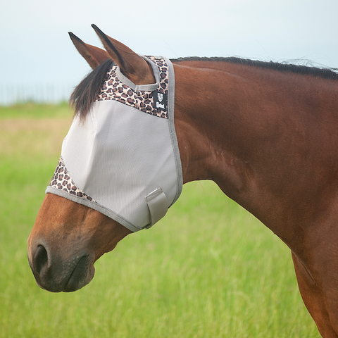 Crusader Fly Mask With or Without Ears - Leopard