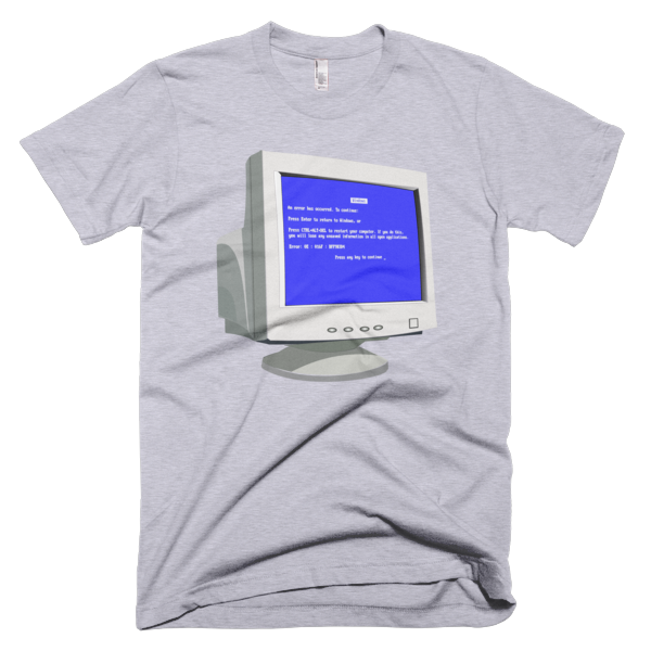 Old PC Blue Screen t-shirt