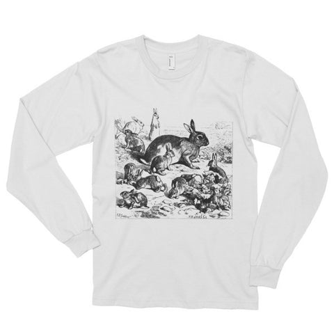 Flickr Bunny Long sleeve t-shirt (unisex)