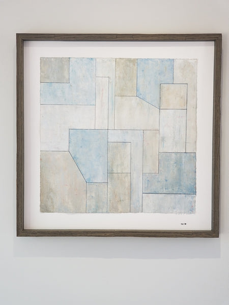 Abstract print 22x22 in. - Neutral Studies Blue n.1 - unframed