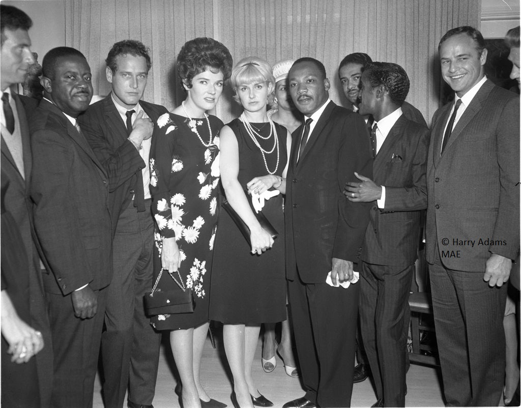 Icons and people - Rev. Dr. Martin Luther King Jr. at reception post Los Angeles Freedom Rally