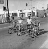 Icons and people - Compton neighborhood, Los Angeles, Calif. 1960's