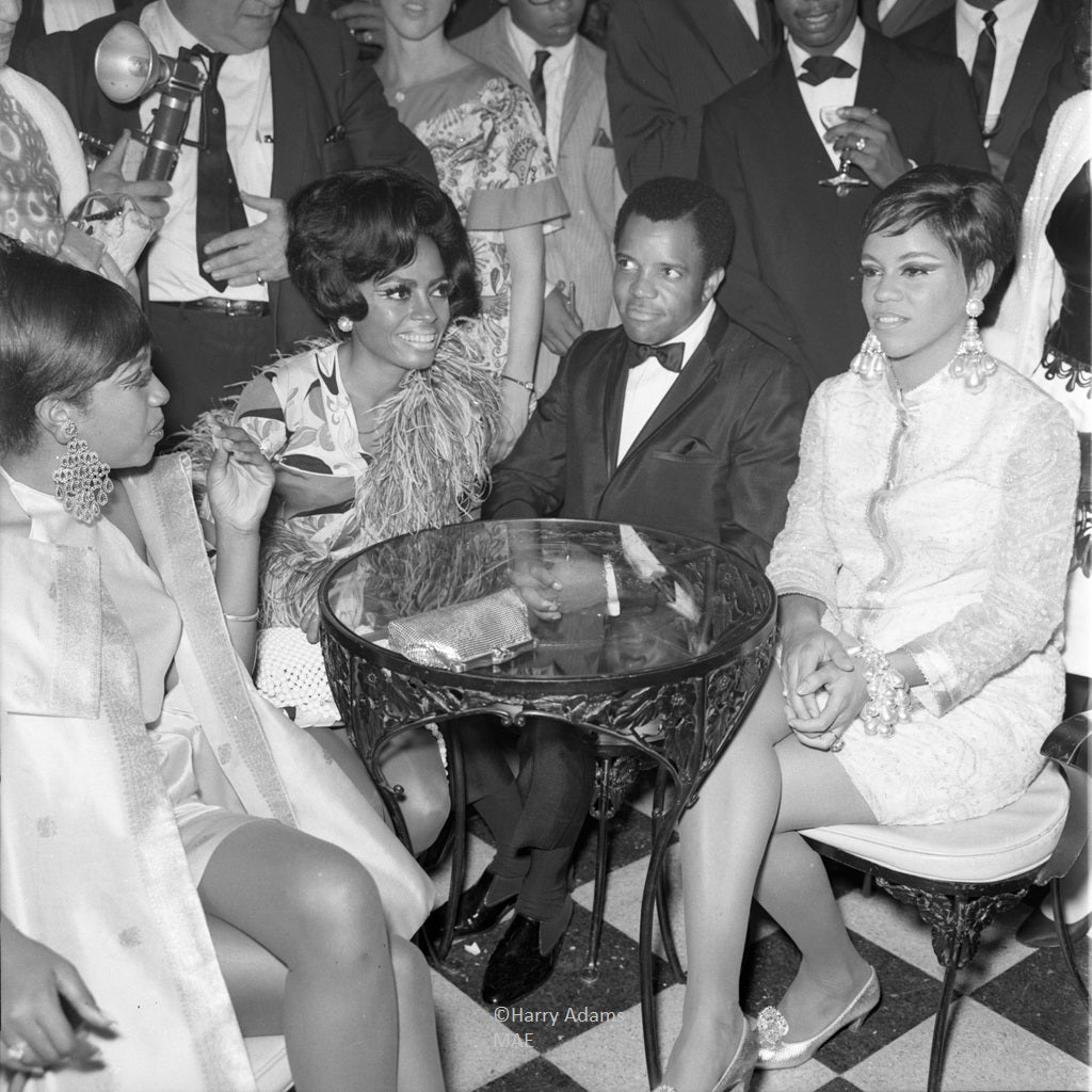 Icons and people - The Supremes and Berry Gordy, Los Angeles, Calif. 1967
