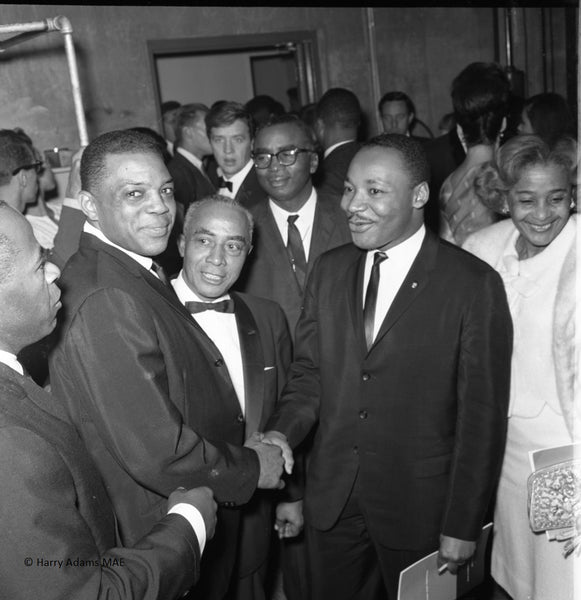 Icons and people - Rev. Dr. Martin Luther King Jr. with Baseball Legend Willie Mays, Los Angeles, Calif. 1963