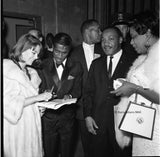 Icons and people - Rev. Dr. Martin Luther King Jr. with Sammy Davis Jr., and Natalie Wood, Los Angeles, Calif. 1963