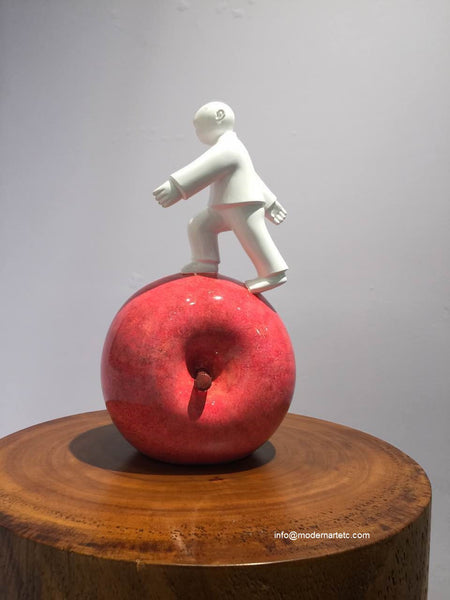 Xie Ai Ge's Apple Series - Small Fibre Glass Sculpture
