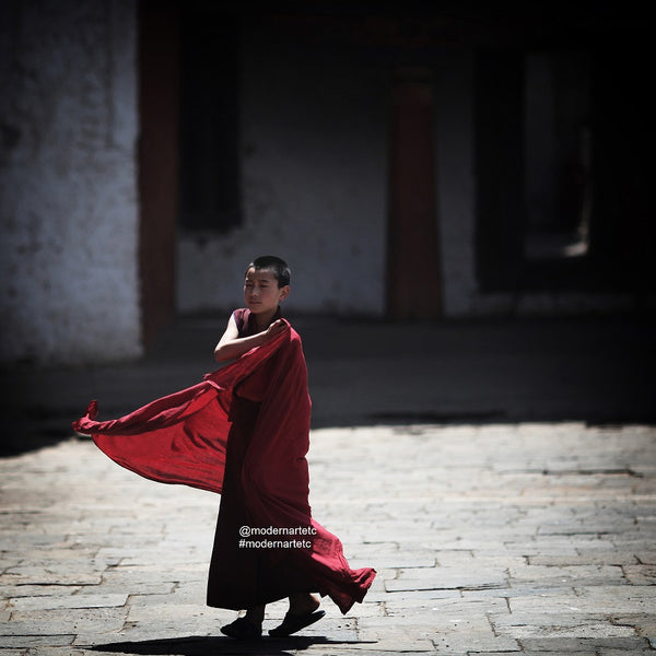 Boy Monk in Red Robe