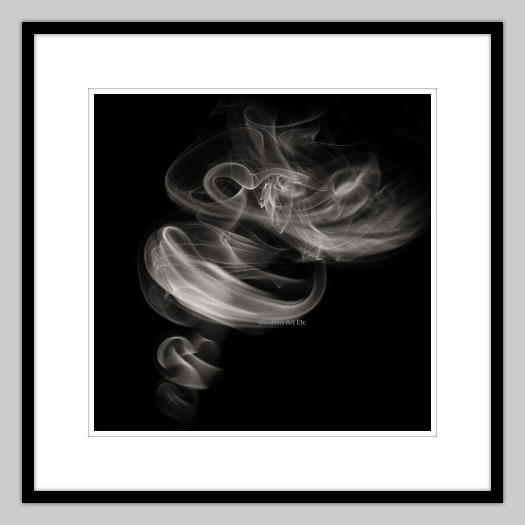 Black and white abstract contemporary photography smoke