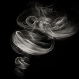 "Black and White Abstract Contemporary Photography- ""Smoke"""