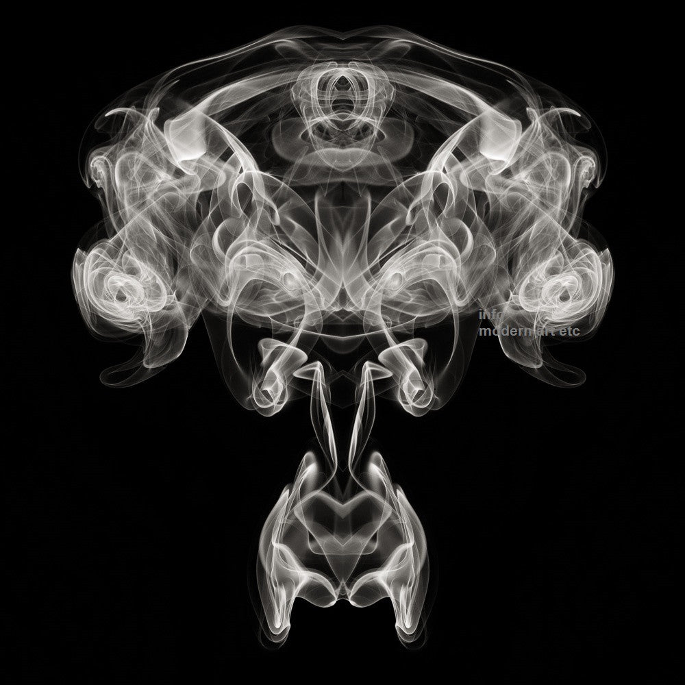 "Black and White Abstract Art - ""Smoke"" Photography"