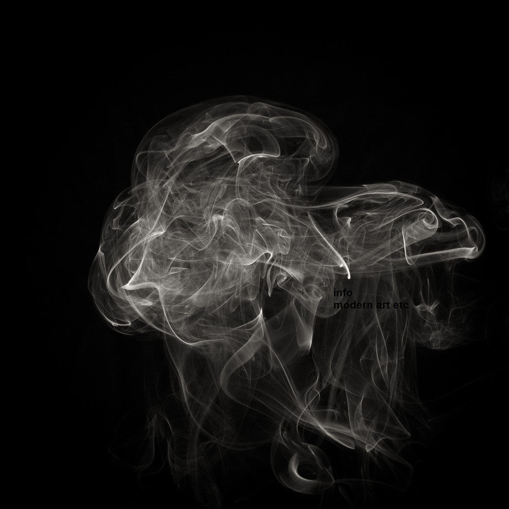Black and white abstract smoke photography