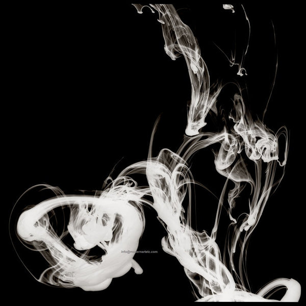 Abstract Photography - Smoky Rings of Sultry (black and white)