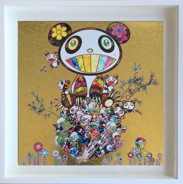 Takashi Murakami Offset print - Panda Family (Gold) - free framing - LAST ONE