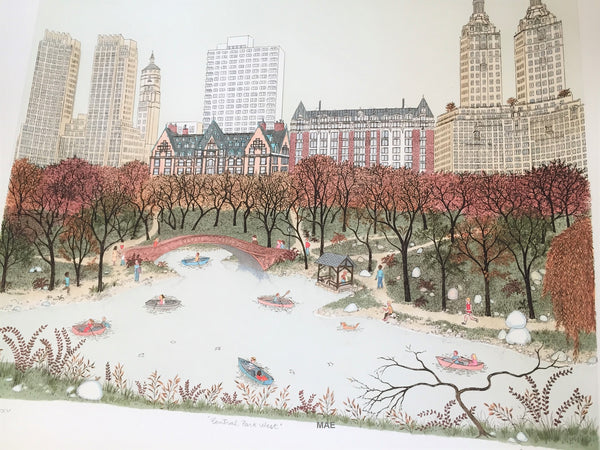 Cuca Romley - Central Park West, New York, New York - Etching