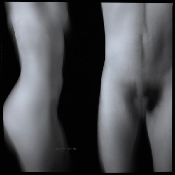 Black and White Nude photography of female, male in archival print - Man & Woman Nude 10
