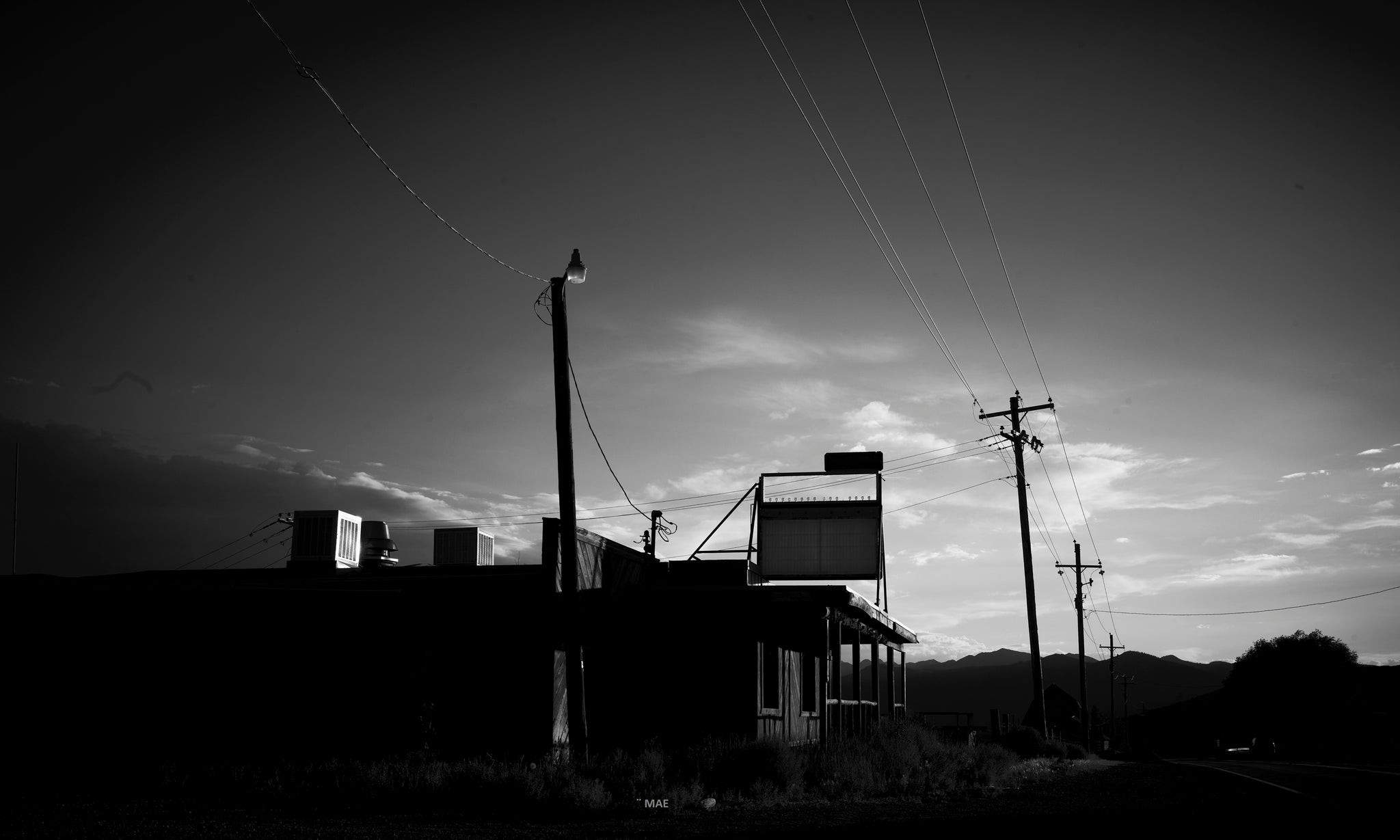 "Photography of American landscape series  ""Salt Lake City"" n.2"