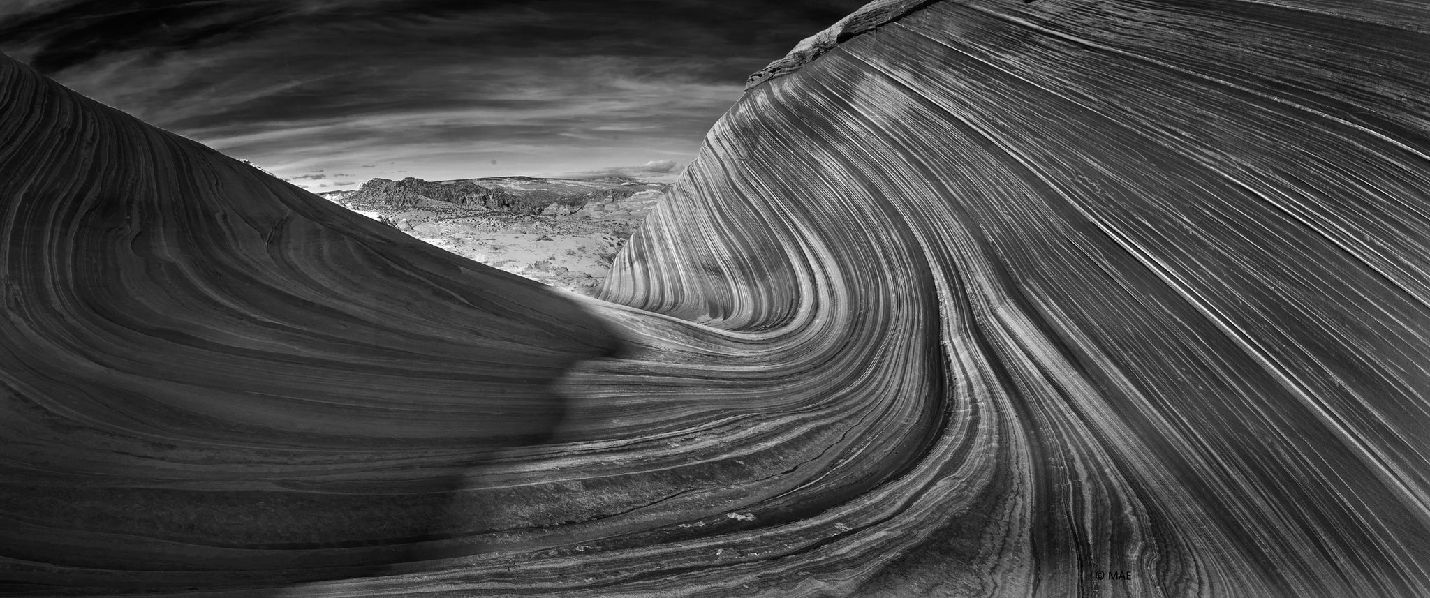 "Black and White Photography of American landscape series - ""The Wave, Paria Canyon, Arizona"" n.1"