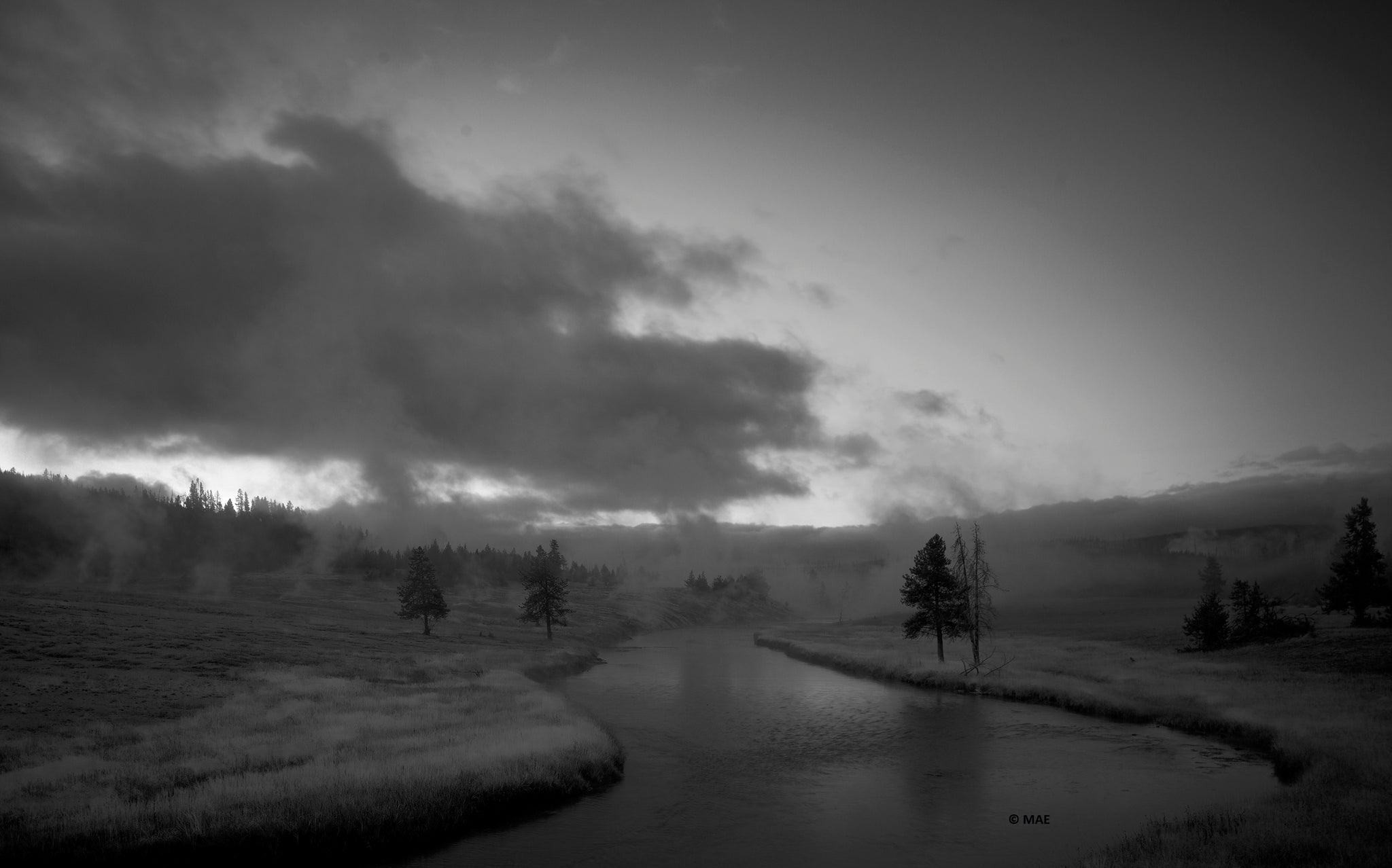 "Photography of American landscape series ""Yellowstone"" n.2"