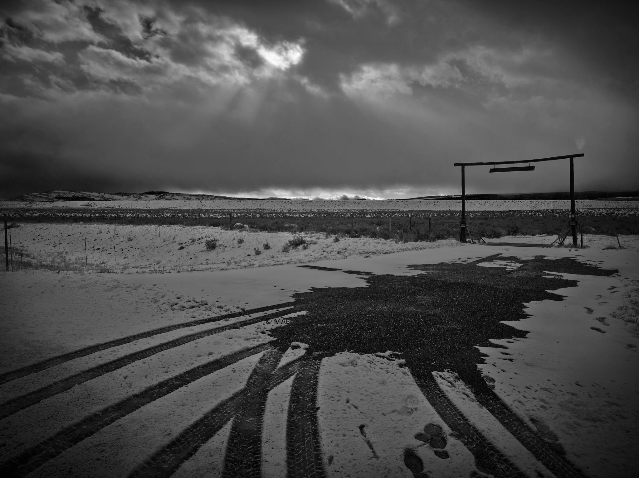 "Photography of American landscape series ""Yellowstone"" n.4"