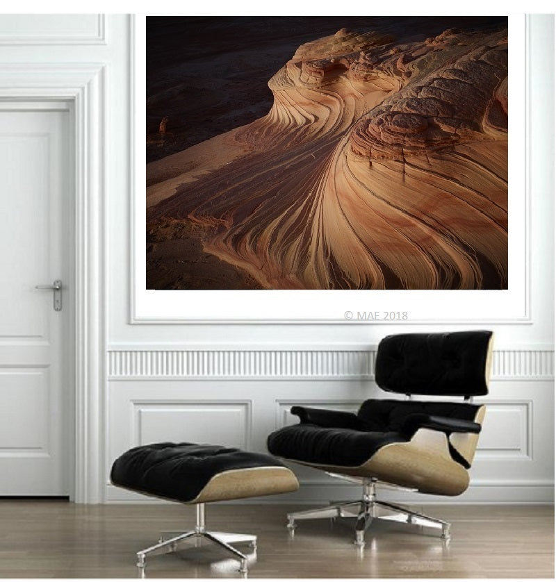 "Color Photography of American landscape series - ""The Wave, Paria Canyon, Arizona"" n.3"