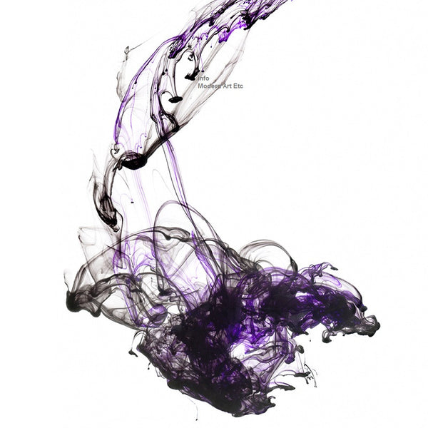 Ink Abstract - Purple