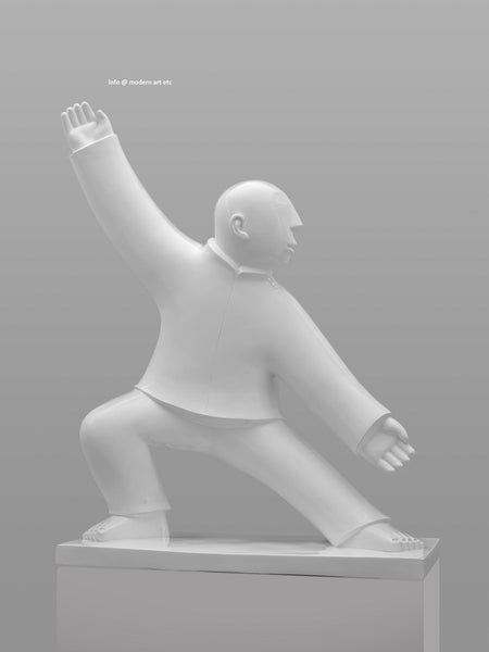 Xie Ai Ge large Tai Chi Sculpture modern art etc gallery