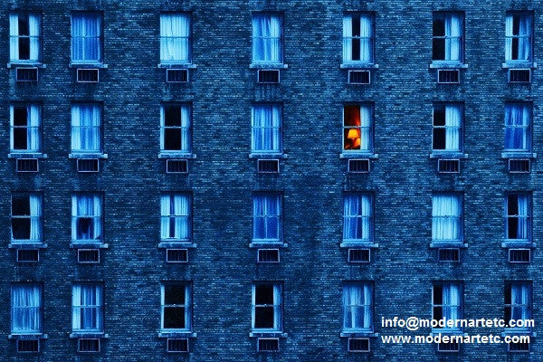New York City - Blue Windows