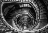Architectural Interiors -  Blue Lighthouse Spiral Stairs - Large photography - Framed - Installation ready