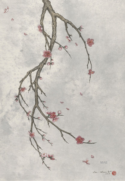 Contemporary Chinese Ink - Winter's Breeze