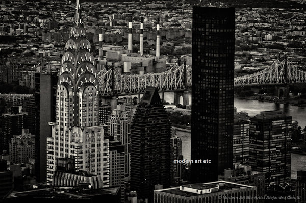 New York City Skyline (black and white 17)