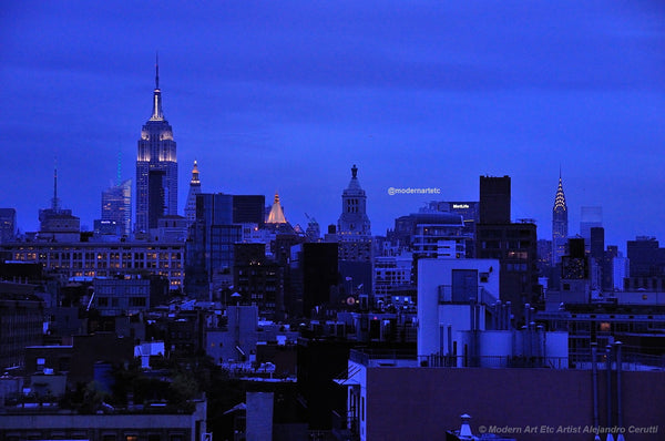New York City Architectural Landscapes 2015 - 01 Rhapsody in Blue (Dawn)