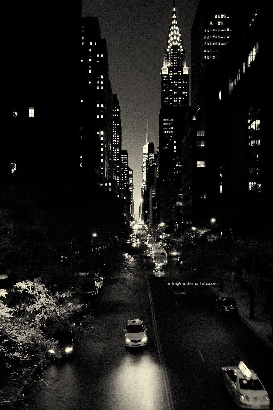 New York City Architectural Landscapes – 24 black and white