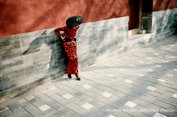 JP Pietrus Fashion Poetic landscape photography - Ling, Madam Song at Red Wall