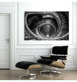 Architectural Interiors - Spiral Stairs II - Europe - Framed - Installation ready