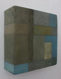 Abstract oil painting - Architectural forms - 8x8x2.75 in.  Stephen Cimini