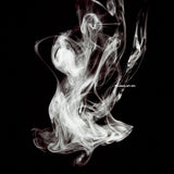 Abstract Photography - black and white smoke fluid rings of sultry