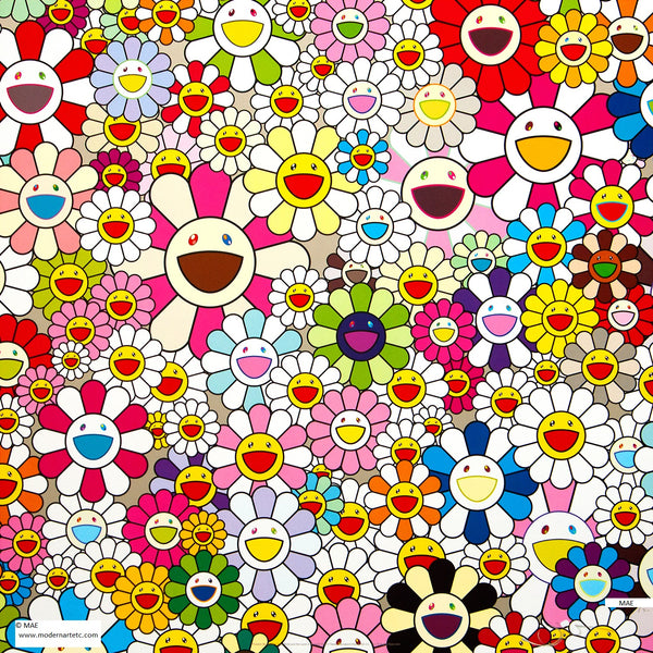 Takashi Murakami Offset print - Flowers Blooming in this World and the World of Nirvana #3 UNFRAMED